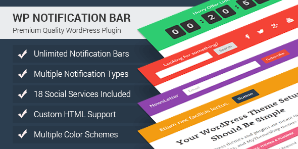 hello bar alternatives - 15 WP Notification Bar Pro