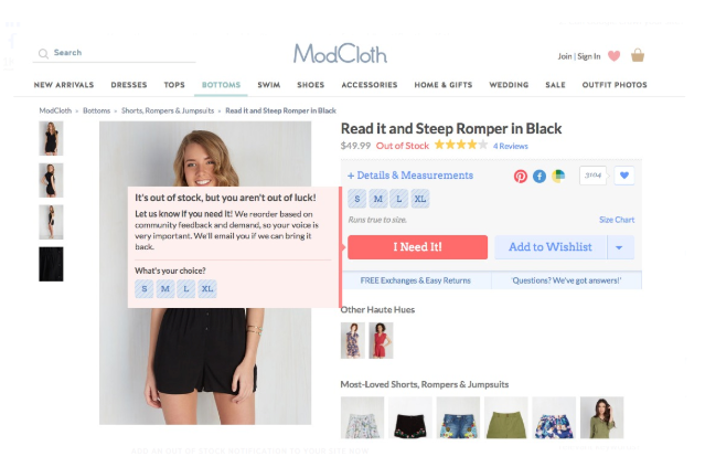 Modcloth - Email marketing for eCommerce